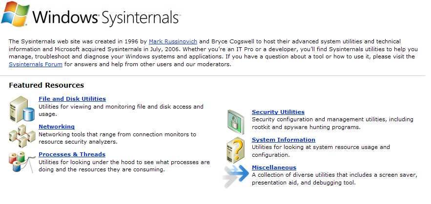 Microsoft Sysinternals