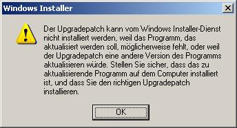 Probleme mit der Installation VS2005SP1