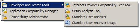 Durch ACT5.0 installierte Programme imStartMenü