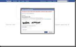 Facebook löschen - Sicherheitsabfrage
