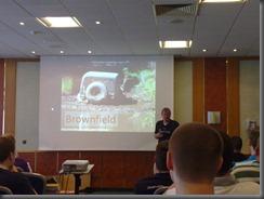 Stefan Lieser bei der TypeMock-Session: Ich liebe dieses Bild zu Brownfield :-)