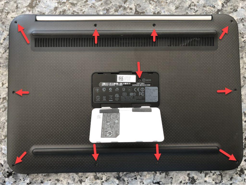 Schrauben am Dell XPS12 entfernen