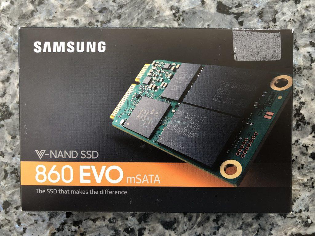 Verpackung Samsung 860 EVO mSATA SSD